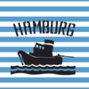 gestreift Schlepper Hamburg Kids-Shirt