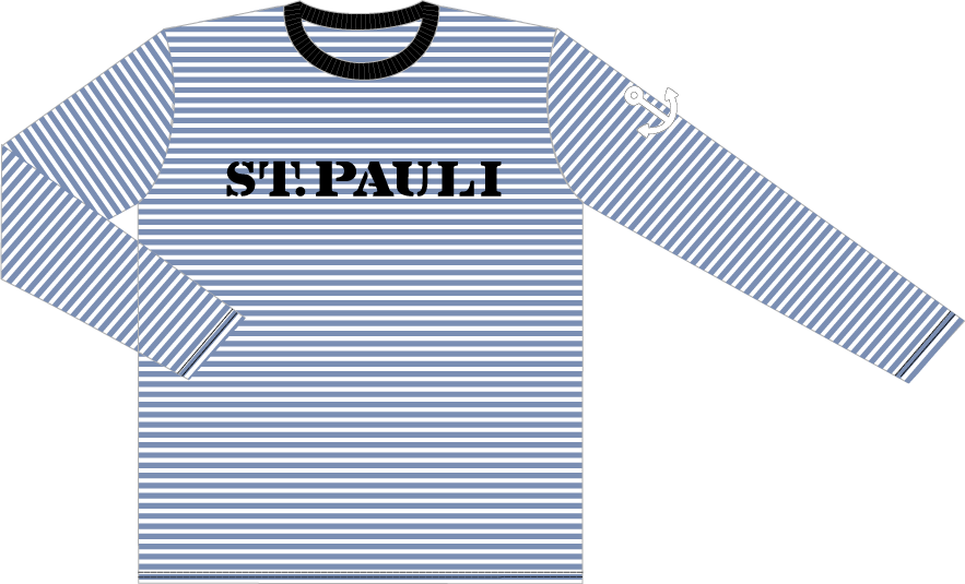 boy longsleeve weiss blau gestreift st pauli shirtlab onlineshop. Black Bedroom Furniture Sets. Home Design Ideas